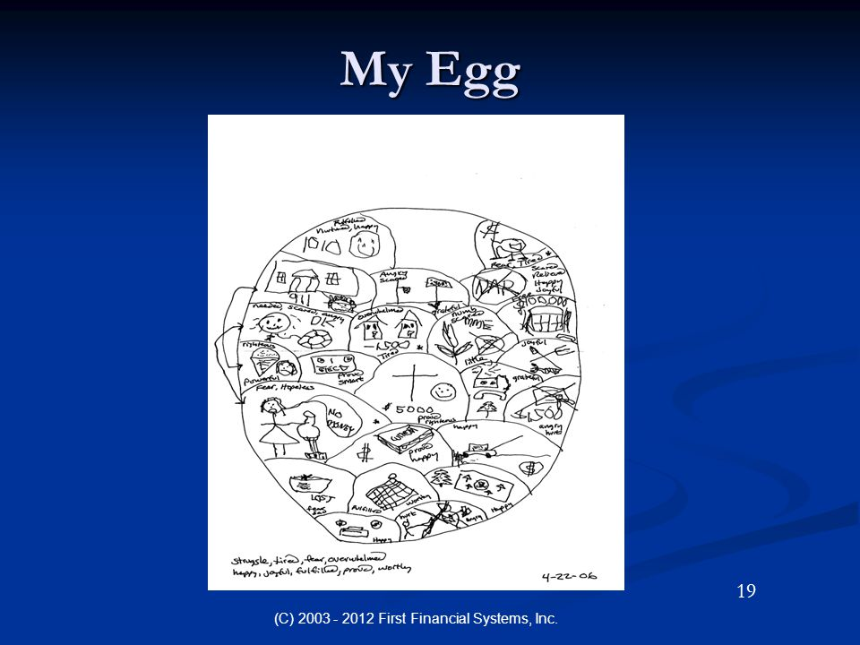 My Egg (C) 2003 - 2012 First Financial Systems, Inc. 19