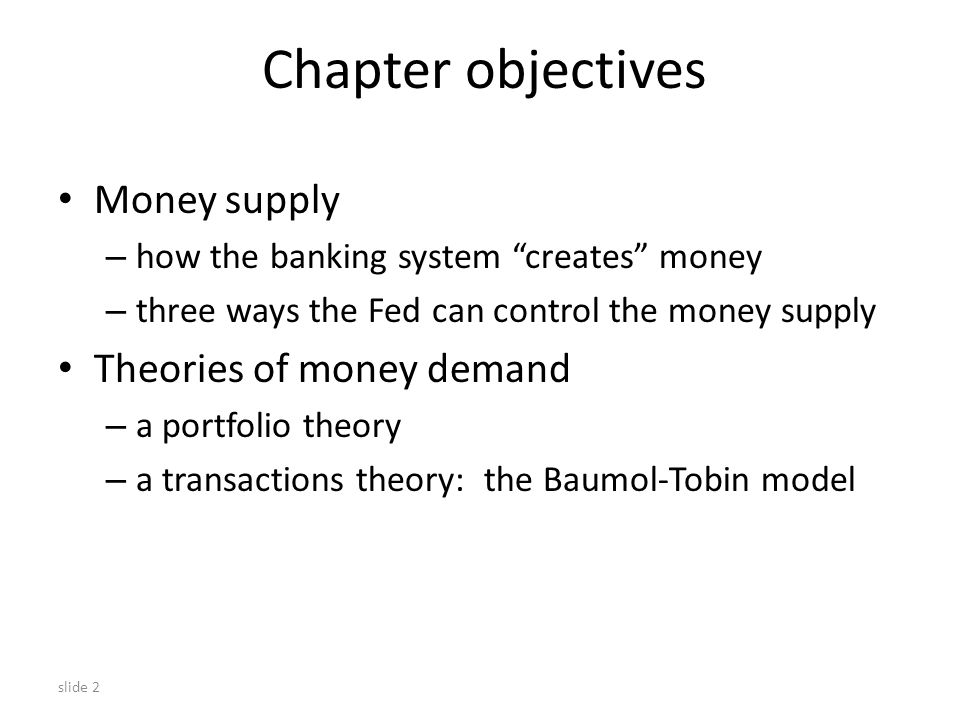 slide 13 SCENARIO 3: Fractional-Reserve Banking THIRDBANKS balance sheet AssetsLiabilities reserves $640 loans $0 deposits $640 If this $640 is eventually deposited in Thirdbank, then Thirdbank will keep 20% of it in reserve, and loan the rest out: reserves $128 loans $512