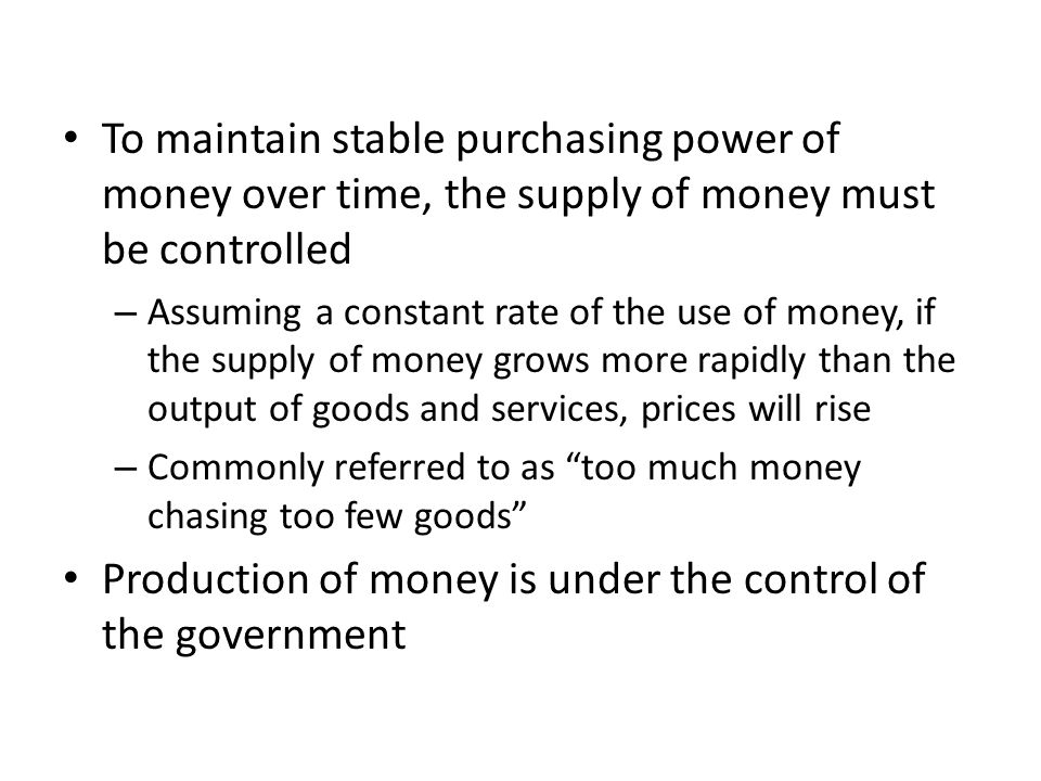 The monetary multiplier This is the multiple by which an increase in reserves will increase the money supply It is the ratio of required reserves to deposits or 1/r = 1/.2 = 5 The lower the percentage of reserve requirements, the greater the potential expansion in the money supply from creating new reserves The fractional reserve requirement thus places a ceiling on potential money creation