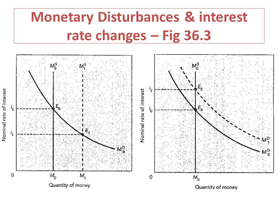 Monetary Disturbances & interest rate changes – Fig 36.3