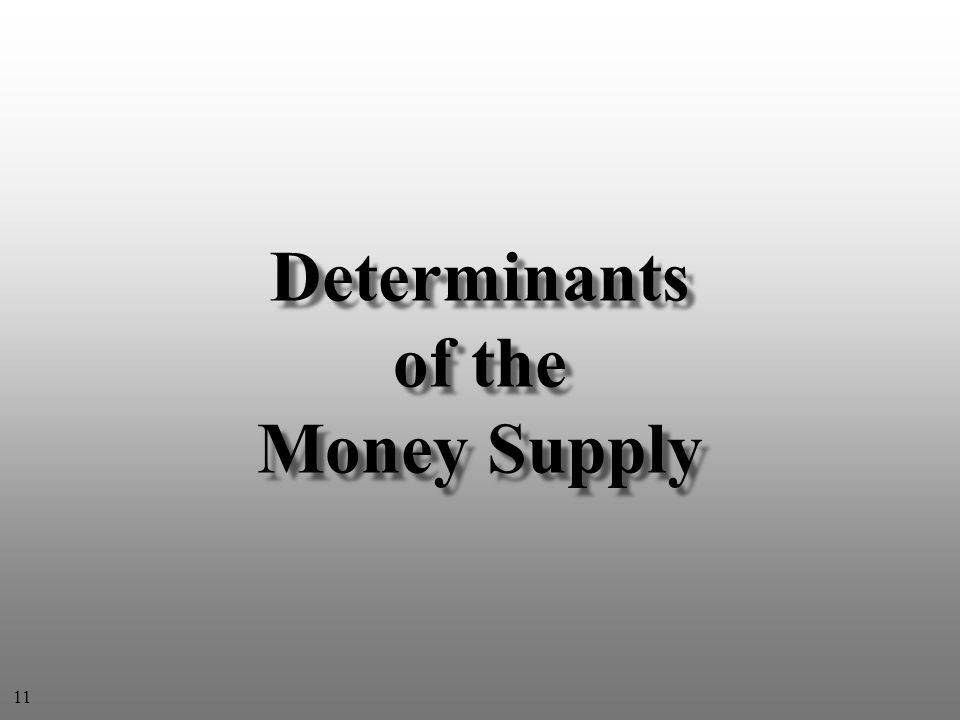 Determinants of the Money Supply 11
