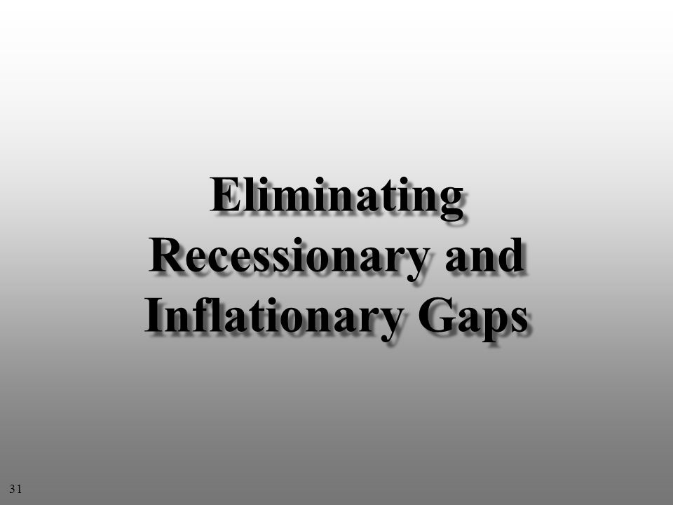 Eliminating Recessionary and Inflationary Gaps 31