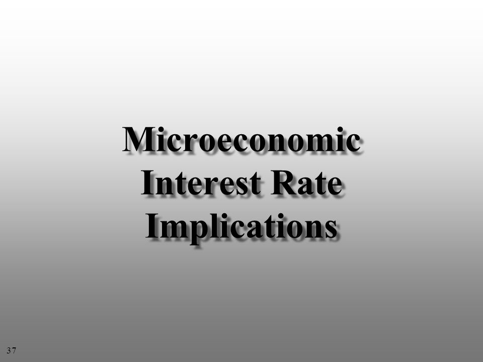 Microeconomic Interest Rate Implications 37