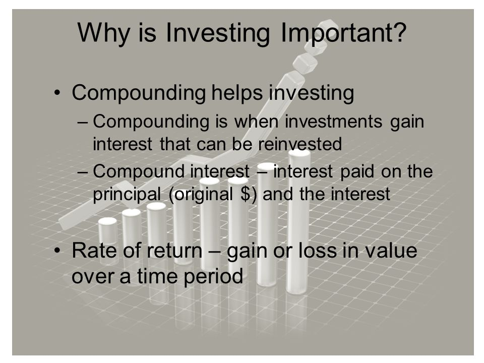 Why is Investing Important.