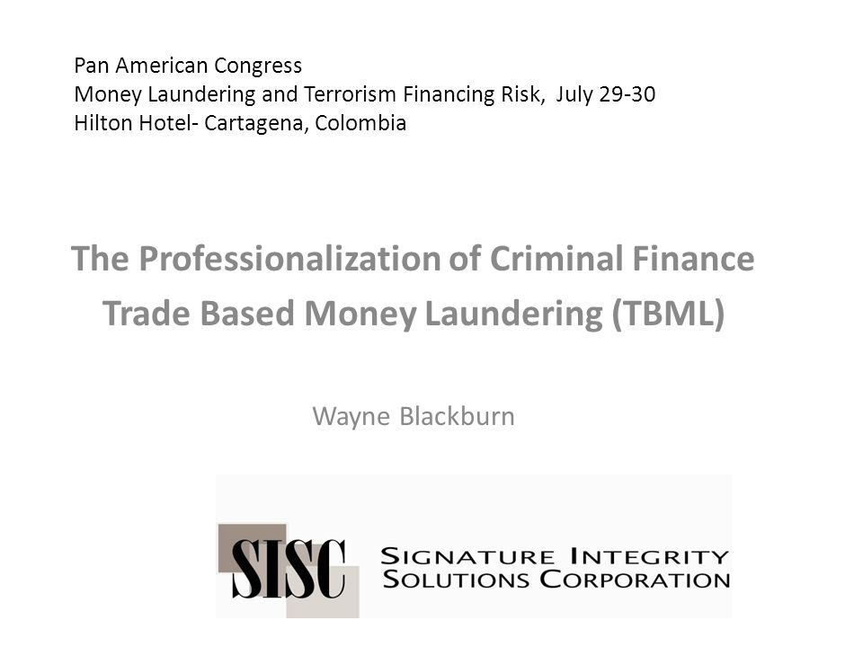 Money Laundering Defined as taking any action with property of any form which is either wholly or in part the proceeds of a crime that will disguise the fact that that property is the proceeds of a crime or obscure the beneficial ownership of said property.