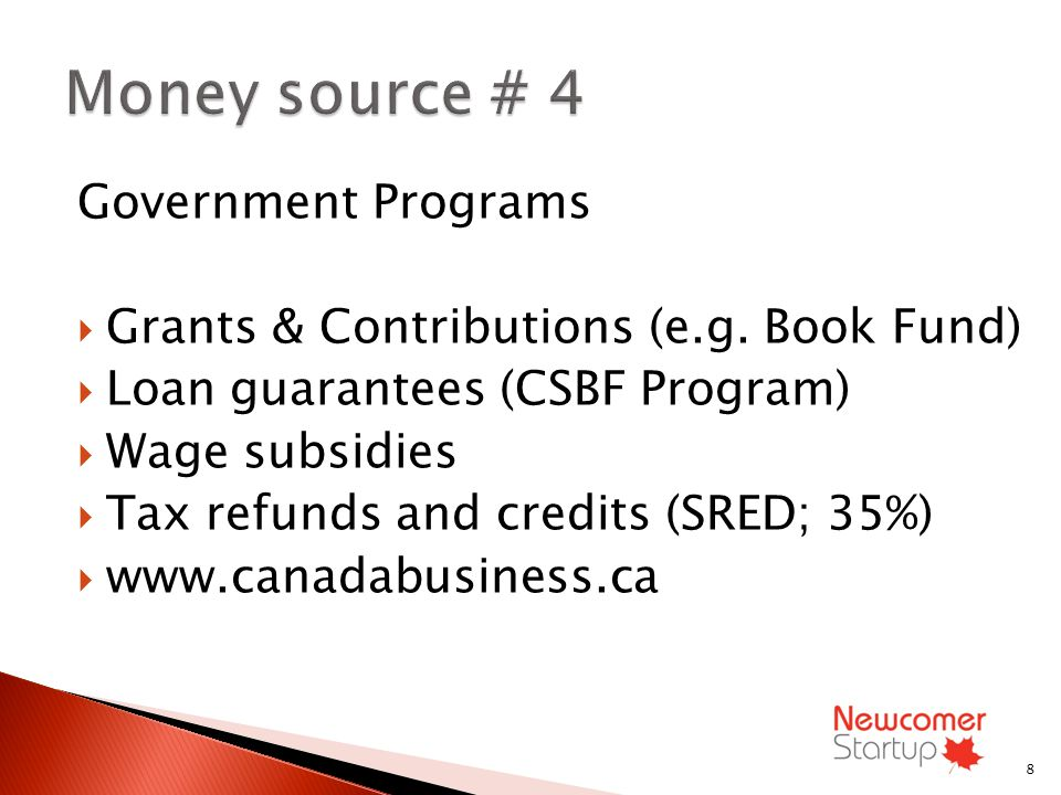 Government Programs Grants & Contributions (e.g.
