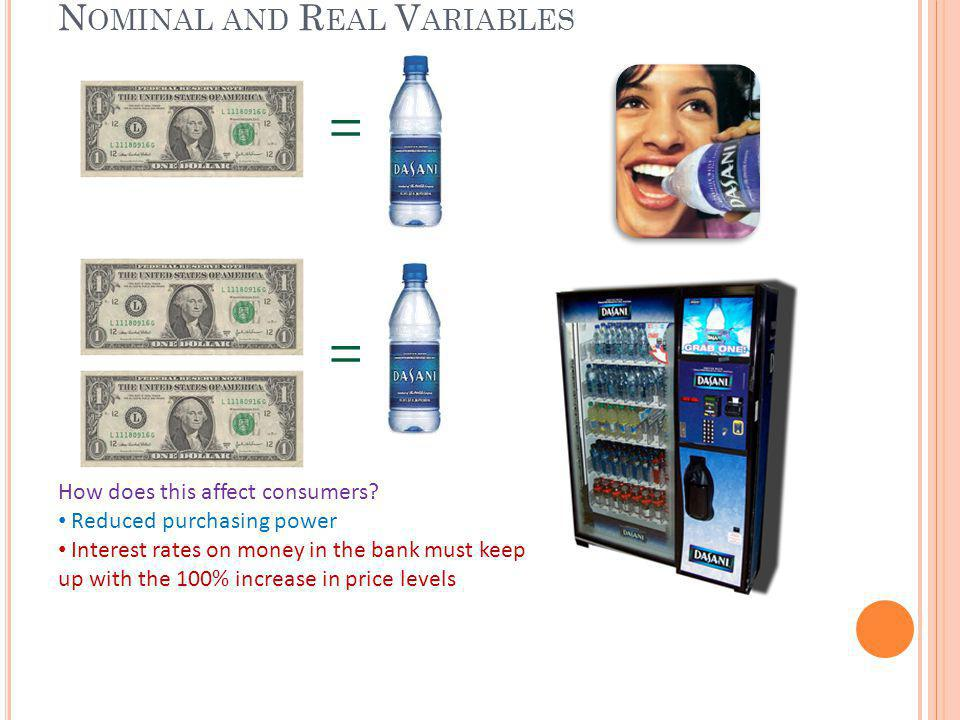 T HE CLASSICAL DICHOTOMY & MONETARY NEUTRALITY Monetary neutrality – changes in money supply dont affect real variables in the long run, only nominal variables in the long run Long run, nominal variables adjust to match expected inflation Short run – less than 2 years Long run – greater than 2 years