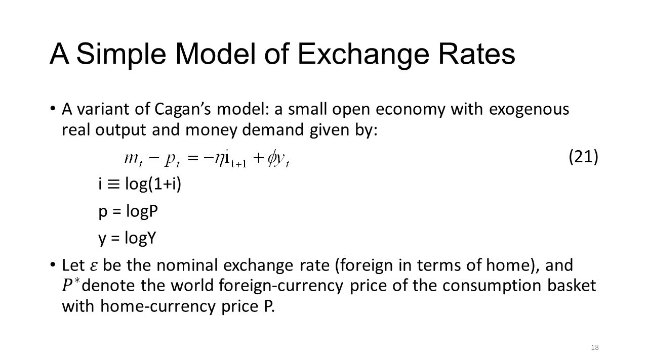 A Simple Model of Exchange Rates 18