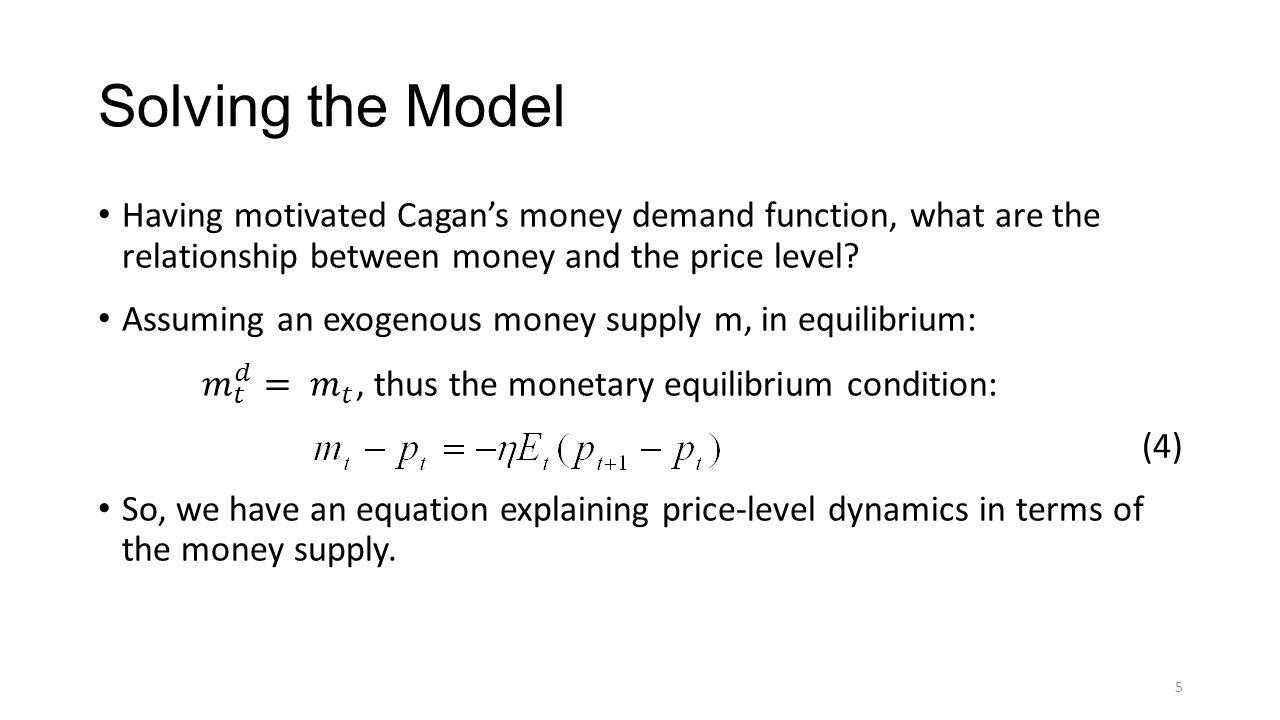 Solving the Model 5