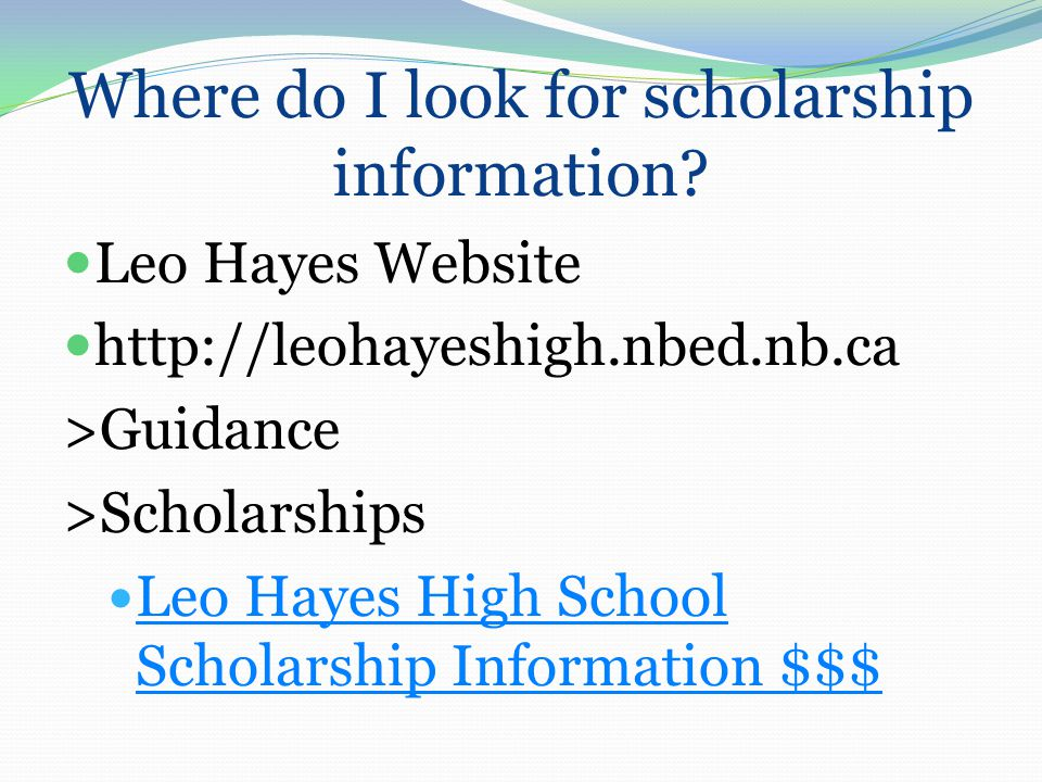 Where do I look for scholarship information.