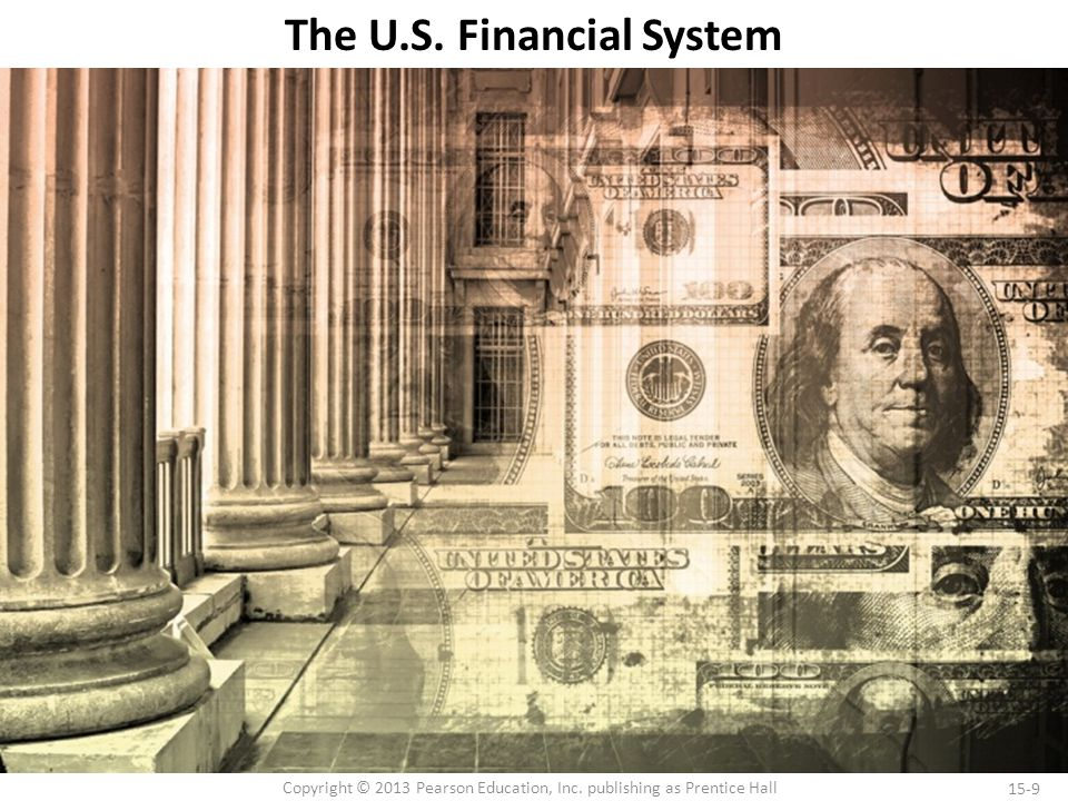 15-9 Copyright © 2013 Pearson Education, Inc. publishing as Prentice Hall The U.S. Financial System