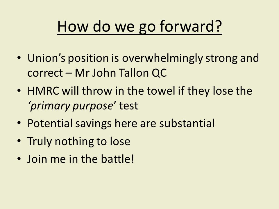 How do we go forward.