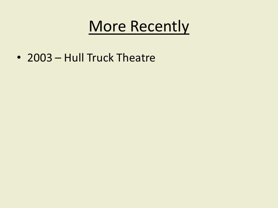 2003 – Hull Truck Theatre