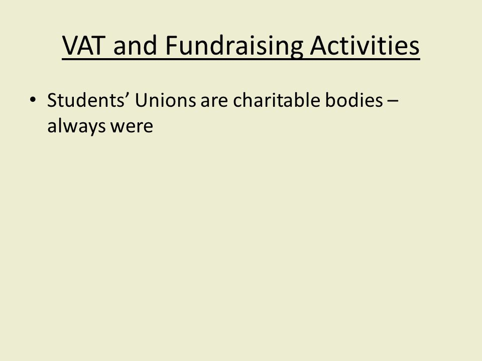 Students Unions are charitable bodies – always were