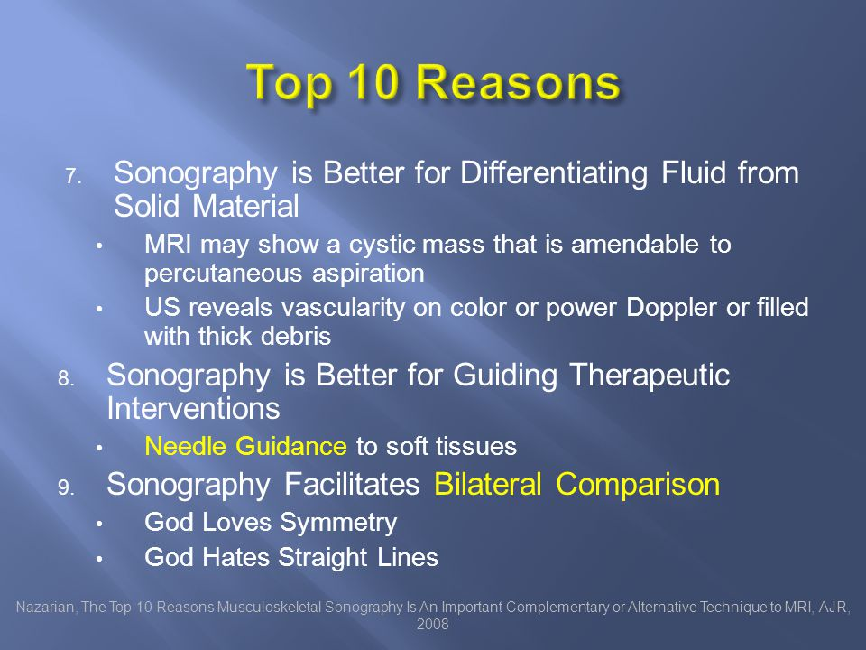 Four centers Each radiologist did only one procedure in the manner that they usually employ USa USp FLa FLp Is the ultrasound better than fluoro.