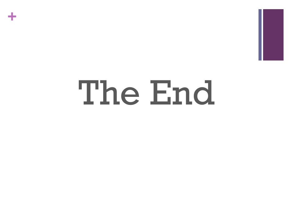 + The End