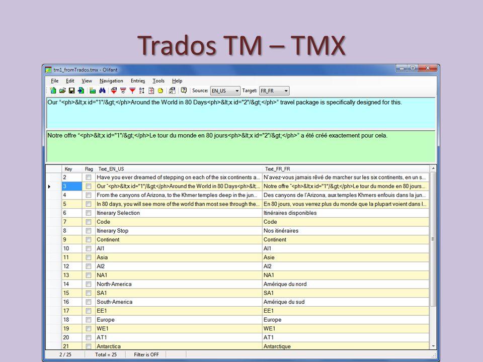 Trados TM – TMX