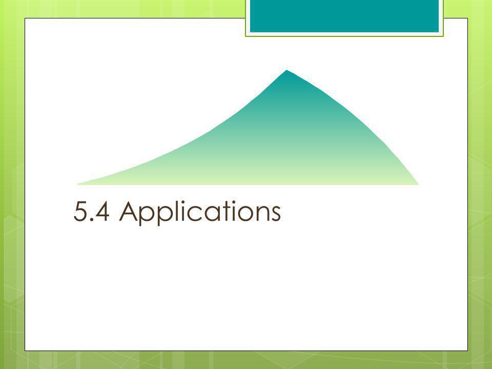 5.4 Applications