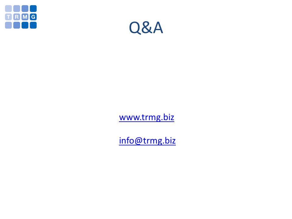 Q&A www.trmg.biz info@trmg.biz