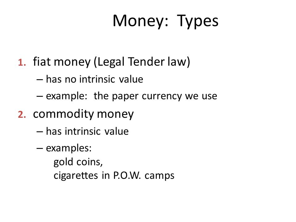 Money: Types 1.