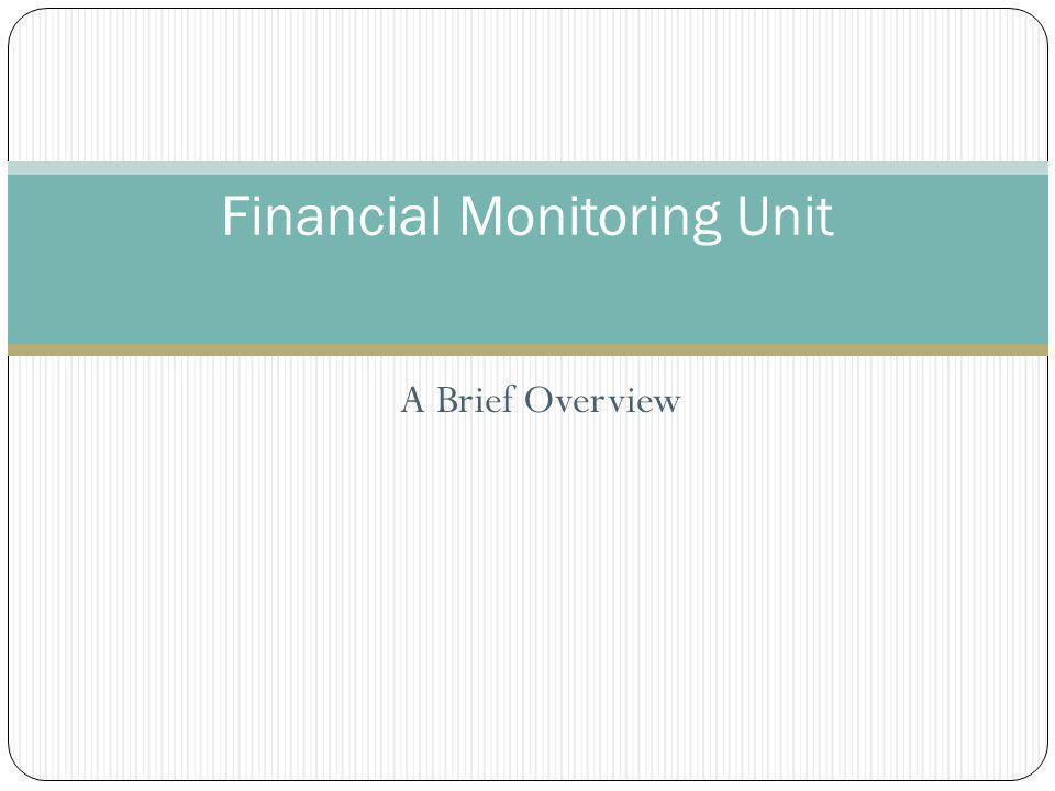 A Brief Overview Financial Monitoring Unit