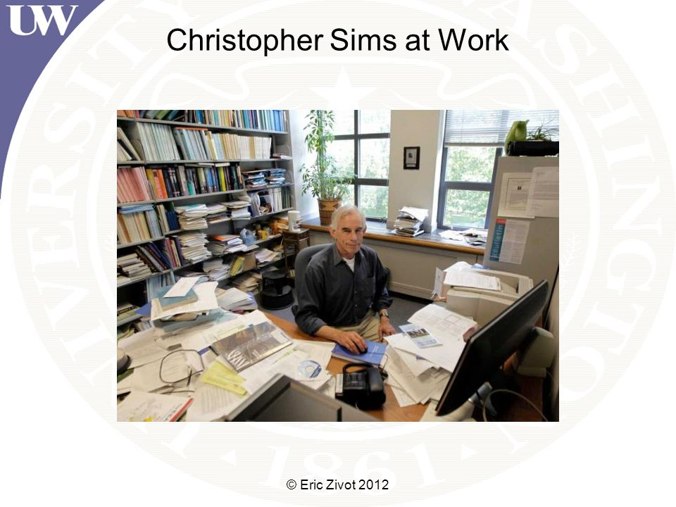 Christopher Sims at Work © Eric Zivot 2012