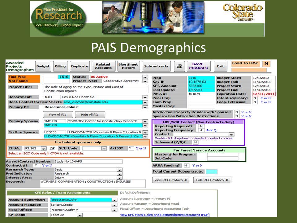 PAIS Demographics
