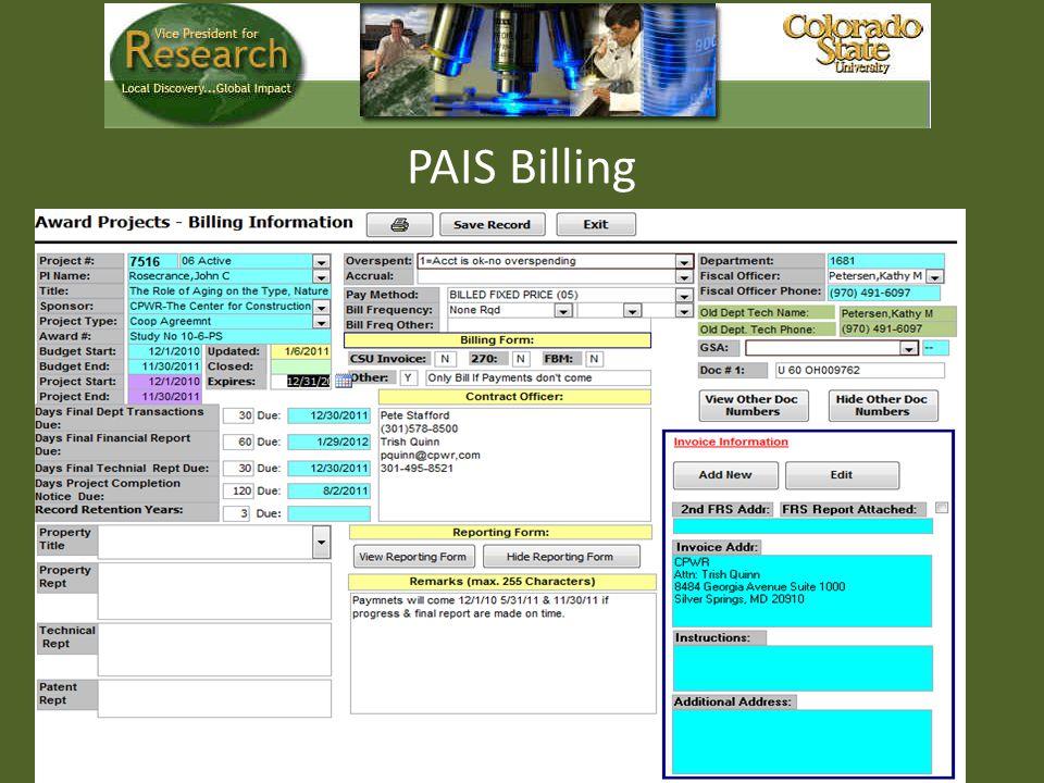 PAIS Billing