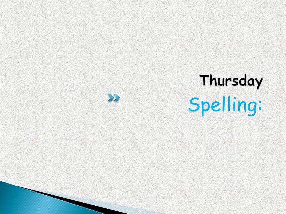 Spelling: