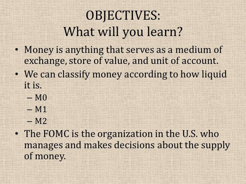 OBJECTIVES: What will you learn.