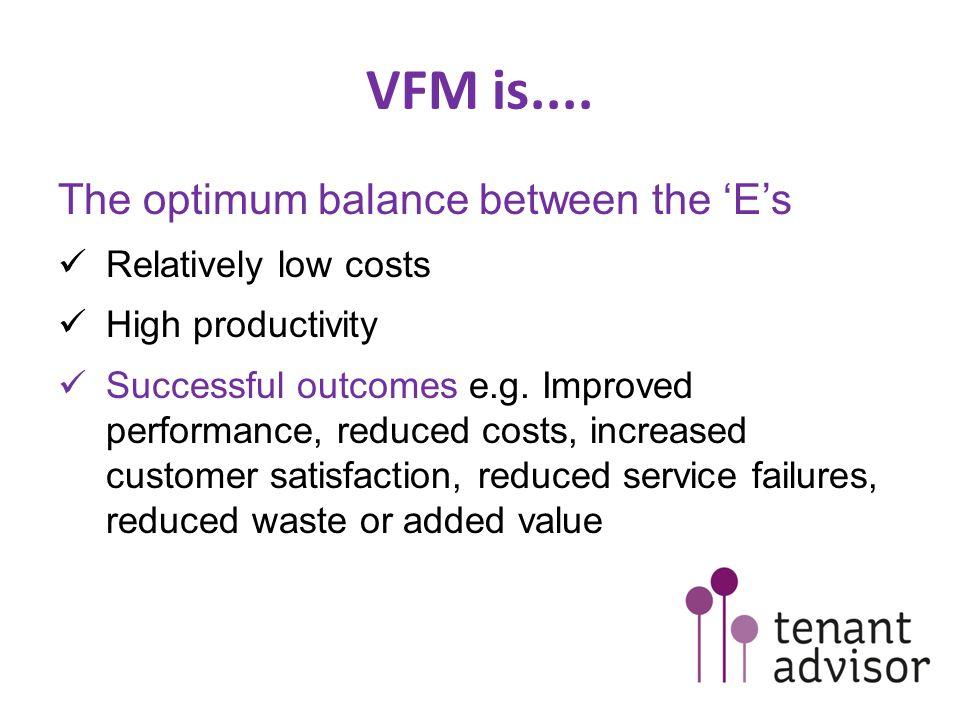 Prioritising VFM How is future expenditure prioritised.