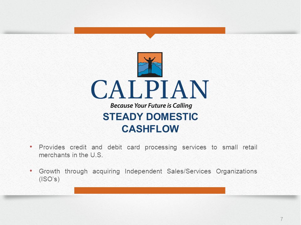 Provides credit and debit card processing services to small retail merchants in the U.S.