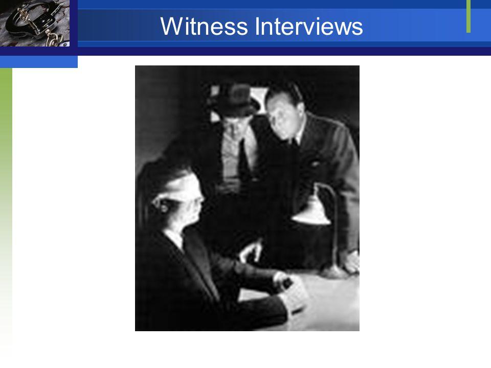 Witness Interviews