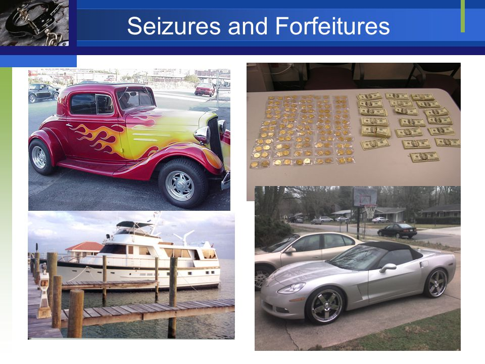 Seizures and Forfeitures