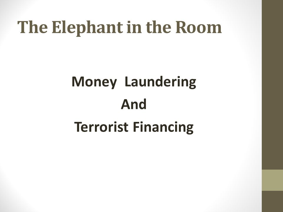 The Elephant in the Room Money Laundering And Terrorist Financing