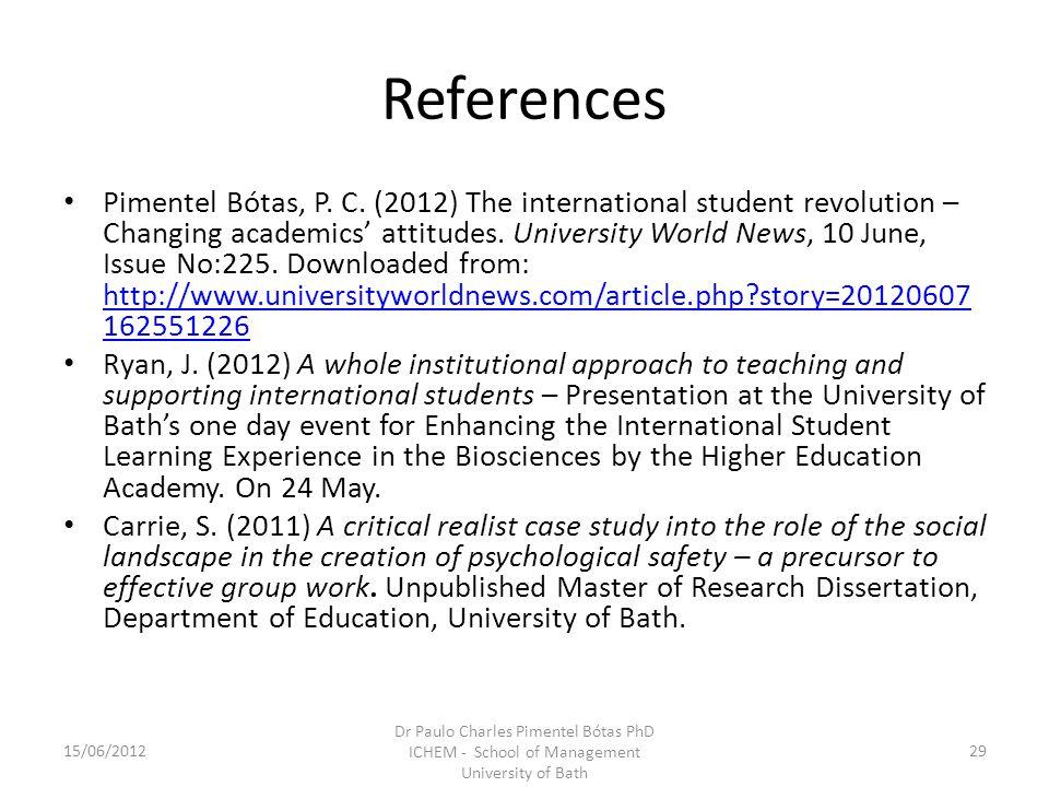 References Pimentel Bótas, P. C.