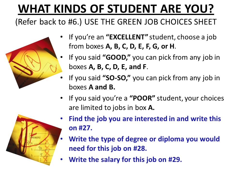 WHAT KINDS OF STUDENT ARE YOU.