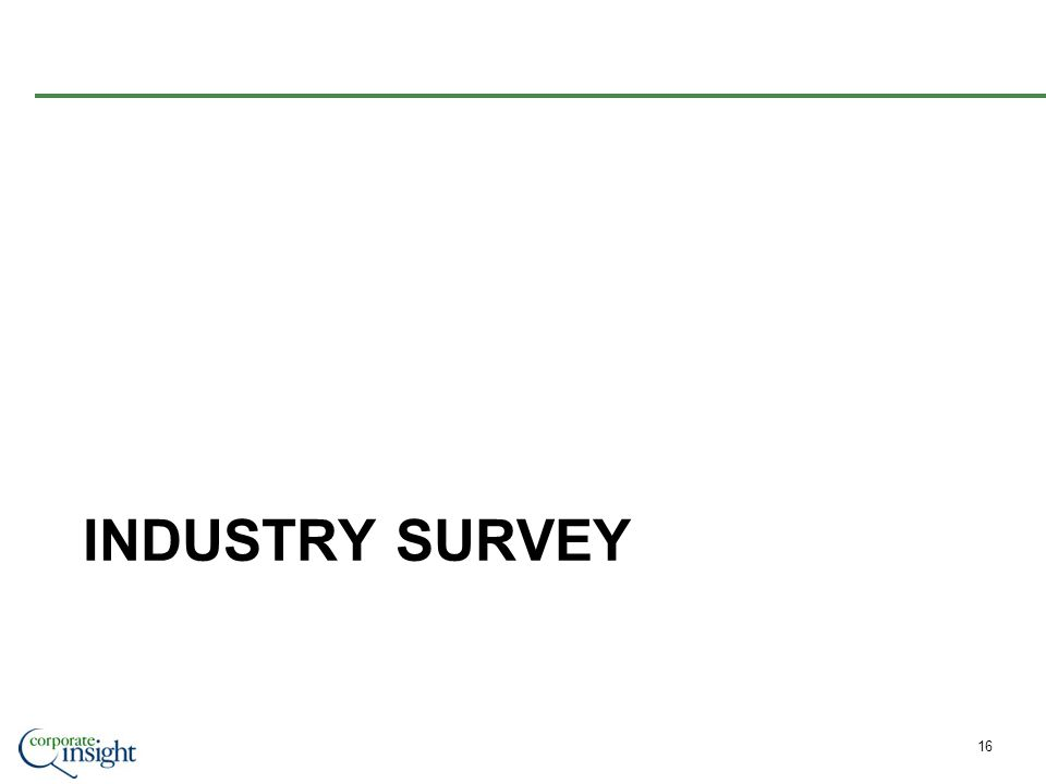 INDUSTRY SURVEY 16
