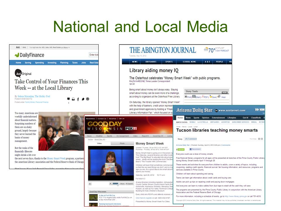 National and Local Media