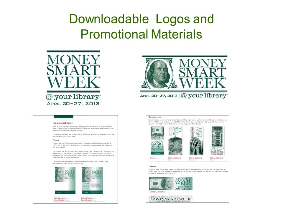 Downloadable Logos and Promotional Materials