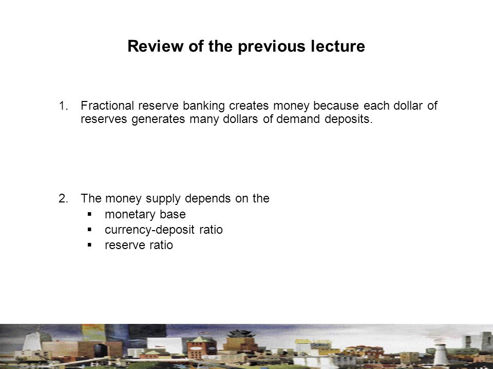 Review of the previous lecture 1.