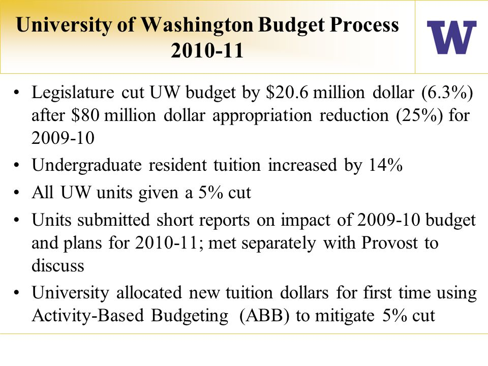 UW Libraries Budget Scenario $3.6 million reduction (12%) in 2009-10 5% Budget Cut in 2010-11.
