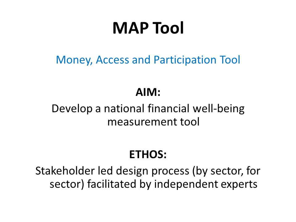 Potential discussion points...Opportunities of the MAP Tool.