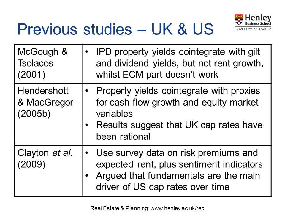 Real Estate & Planning: www.henley.ac.uk/rep Sources: Rent – Devaney (2010), CBRE.