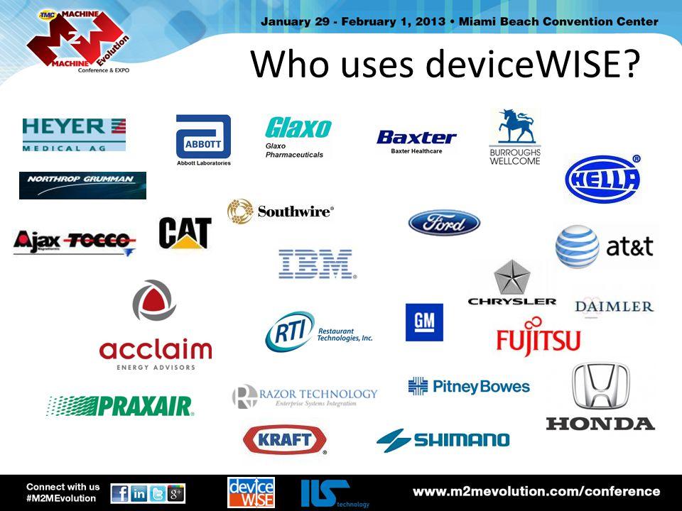 Todays Demo asset gateway temp / %rH sensor m2m service enterprise gateway sql database Connectivity from the deviceWISE Asset Gateway to the temp / %rH sensor via RS-232 protocol.