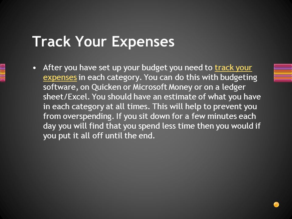 Now its time to budget money for your financial goals.