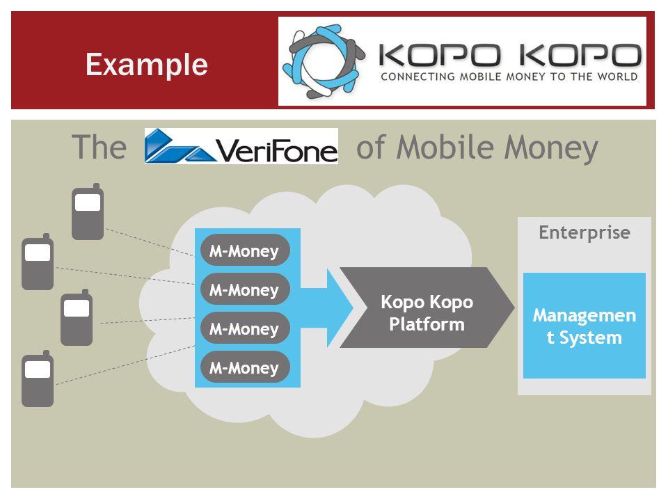 The of Mobile Money M-Money Kopo Platform Enterprise Managemen t System Example