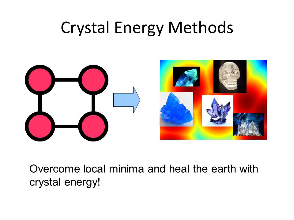 Crystal Energy Methods Overcome local minima and heal the earth with crystal energy!