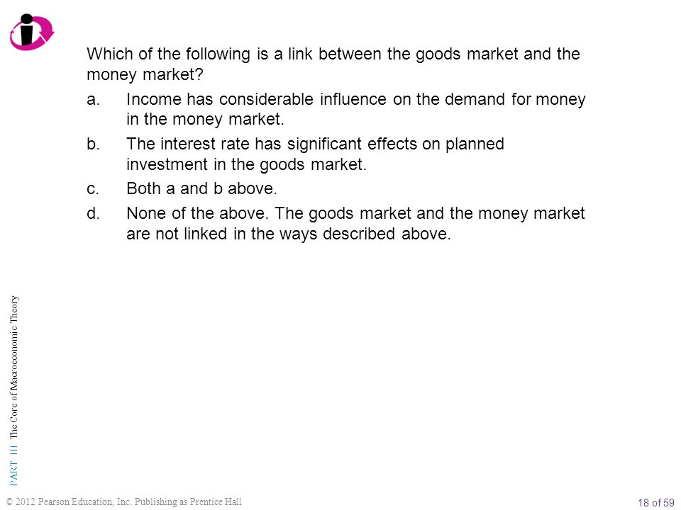 18 of 59 PART III The Core of Macroeconomic Theory © 2012 Pearson Education, Inc.