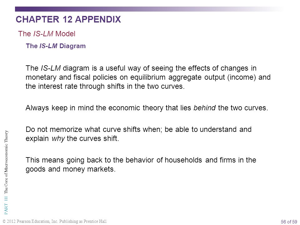 56 of 59 PART III The Core of Macroeconomic Theory © 2012 Pearson Education, Inc.